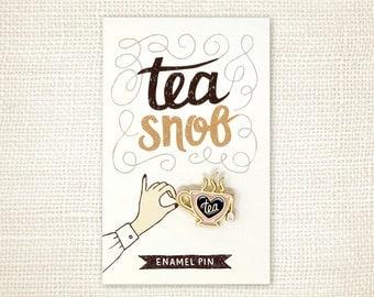 Enamel Pin - Tea Snob