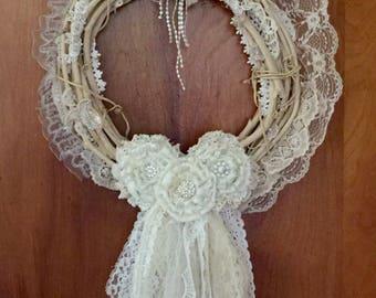Shabby Chic Victorian/Romantic/French Wreath OOAK