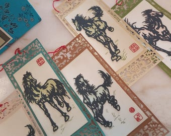 Wooden Horse Artwork Bookmarks Collection