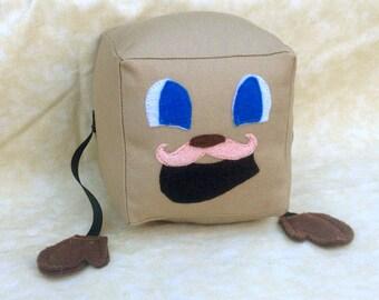 "Tiny Box Tim Plushie! Plush Toy. 4"" cube. Markiplier Youtuber."