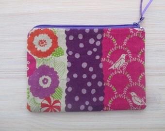 fabric purse, purple