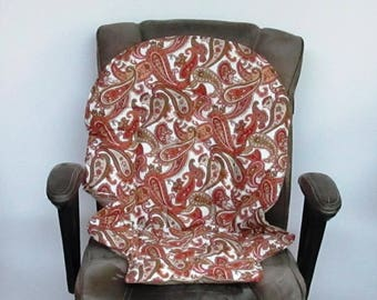 Duodiner or Blossom highchair pad, Graco baby accessory,replacement pad, kids furniture cushion, kids feeding chair, olive and rust paisley