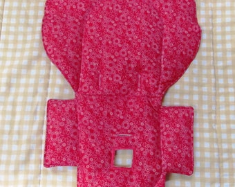 Evenflo high chair cushion, custom chair cover, high chair replacement pad, child seat pad, baby accessory, child care feeding, hot pink