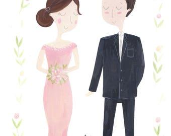 Personalised Wedding Portrait