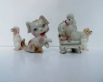 Vintage Ceramic Poodles Miniatures Four