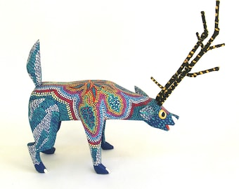 vintage colorful carved and brightly painted wooden animal   ...   oaxaca mexico  ...   oaxacan artisan