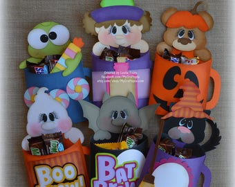 Halloween Favors Mug Pals Treat Favor Bags Candy Bags Party