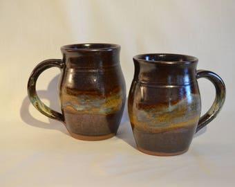 Large, stoneware mug.