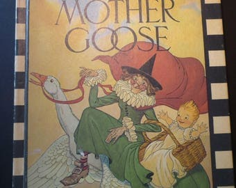 The Real Mother Goose 1973 edition illustrations by Blanche Fisher Wright - gifts for mothers mothers day