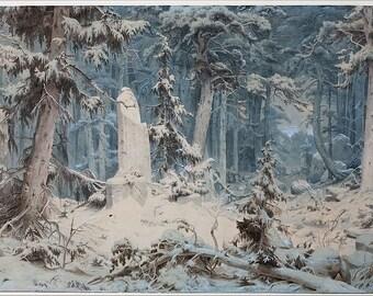 Woods on a Snowy Evening Perfume Oil - Fresh Fallen Snow, Melting Ice, Hemlock, Juniper, Cedar