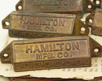 Lot of 8 Vintage Hamilton MFG Typeset Drawer Pulls Handles