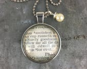 Bible Verse Necklace Psalms 23:6