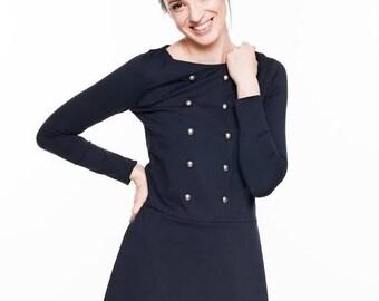 SALE - Short dress   Sailor dress   Midnight blue dress   LeMuse short dress