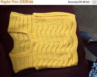 Handmade yellow Sweater-sz lg-ex lg Sale