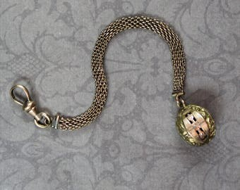 Victorian Gold Mesh Chain with Charm