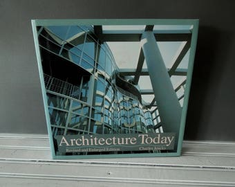 Architecture Today Charles Jencks Coffee Table Book for Decor - Hardcover Vintage Book - Modern Architecture