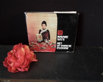 Madame Wu's Art of Chinese Cooking  Cookbook Vintage - Third Printing 1974 - Hardcover - Gift for Cook