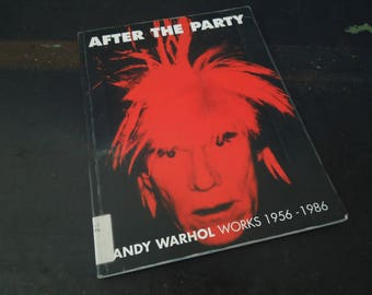 Andy Warhol Works 1956 - 1986 - After The Party Vintage Book - 1997 Irish Museum of Modern Art - ADULT Art Book