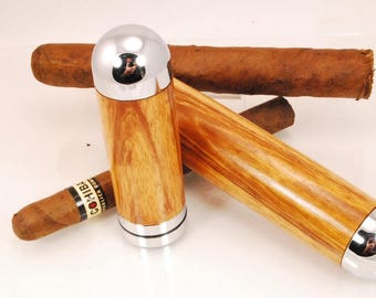 Handcrafted Wood Cigar Tube, Aficionado, Cigar Lover, Jobillo Wood, ASHWoodshops
