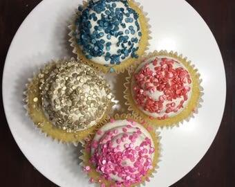 2oz Edible sequins, edible confetti, cupcake sprinkles, cake decoration, cupcake decoration