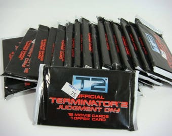 Terminator 2 Judgment Day Movie Cards Trading Cards 16 Packages Unopened