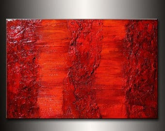Original Rich Textured  Abstract Painting by Henry Parsinia large 36x24