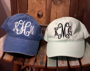Personalized monogram baseball cap/hat