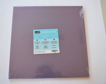 PerfectPlum Stampin' Up! Card Stock 12x12, 20 sheets