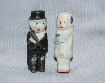 Vintage /Bride / Groom / Bisque / 1930 / Wedding / Cake / Top / Topper / Vintage / Doll / Figurine