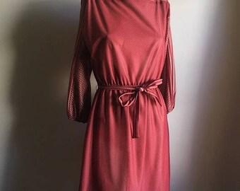 SUMMER SALE Vintage 60s Day Dress • Medium Dress