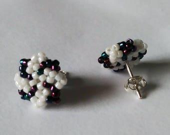 Windmills earrings minimalist silver
