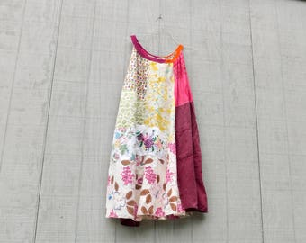 Upcycled Clothing, Bohemian, Summer Dress, Wearable Art, Tunic, Upcycled Patchwork, Embroidery, Romantic, Floral, Linen, Boho, Gypsy, Aline