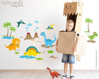 Dinosaurs Wall Decals for Nursery, Dinosaurs Wall Stickers, Playroom Kids Room Dinosaurs Wall Decor, T-Rex Wall Decal, Dinosaurs Wall Decor