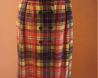 Incredible Vintage Ungaro Multicolor Skirt!