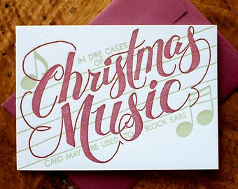 In Case of Christmas Music  - Card