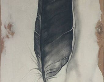 "Eagle Feather Print 11""x 8.5""  on Watercolor Paper"