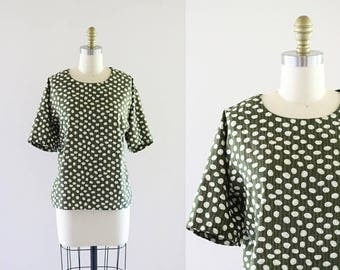 ON SALE olive boxy blouse