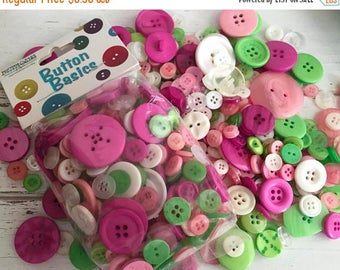 """SALE Mixed Buttons, """"Contemporary Christmas"""" Shades, Packaged Round Button Assortment, 5 oz bag, #BCB153 by Buttons Galore, Sewing, Crafting"""