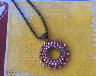 Pink Metallic Pendant