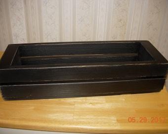 Primitive Mason Jar Holder / Crate / Centerpiece - Holds 3 Jars