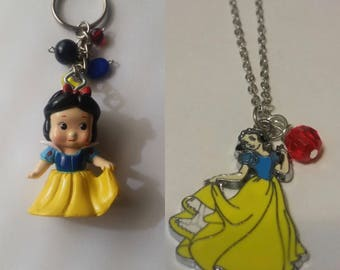 Snow White necklace and Keychain