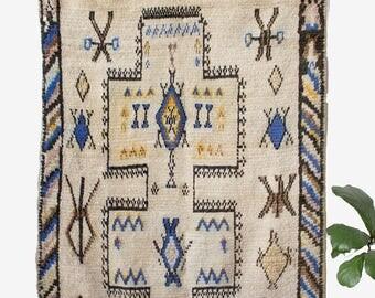 Vintage Moroccan Rug / Azilal Rug / Moroccan Carpet / Bohemian Rug / Berber Rug / Nursery Rug / FREE Us Shipping