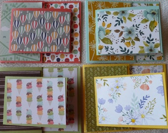 Fancy Folds Joy Fold Card Kits 4 to a Pack. Stampin' Up! Card Stock Color Assortment, Solids, DSP Print Poetry, Sycamore Street +?