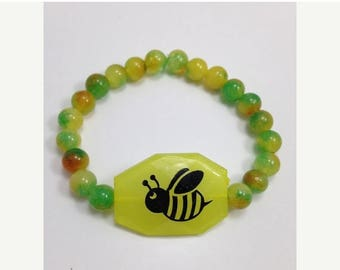 BIG Clearance Sale Choose DIY Kit or Ready Made Bumble Bee Beaded Stretch Bracelet