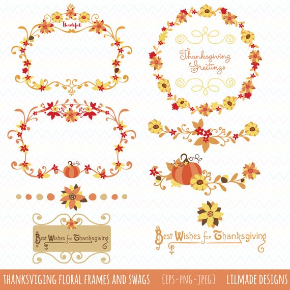 Thanksgiving vector clipart, Thanksgiving wreaths, Thanksgiving ...