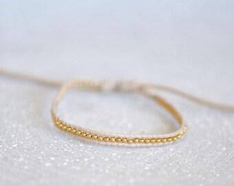 Bracelet Everyday bracelet tiny gold bracelet gold bead bracelet Every day Jewelry