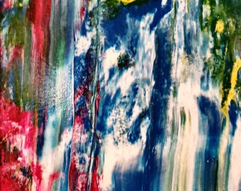 Sun Over the Falls Abstract Original Painting