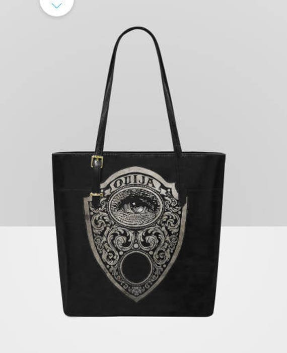 Ouija Mystic Eye Planchette Leather Tote