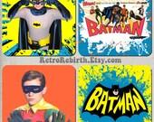 Adam West Batman Drink Coaster Set  - Great For Housewarming, Bar & Coffee Table Display - Set Of 4