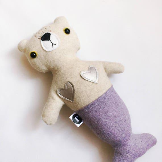 Bear Furrmaid in Cream Wool - READY TO SHIP